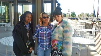 Mean muggin' with Erica Thomas and Madeline Angulo