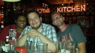 Arika Elizenberry, Jay (Joshua) Thomas, and Andrew Romanelli